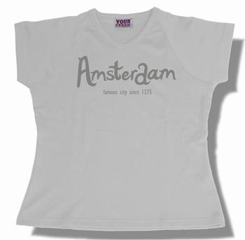 Dames Shirt Amsterdam White