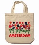 Canvas Draagtas Tulpen Amsterdam